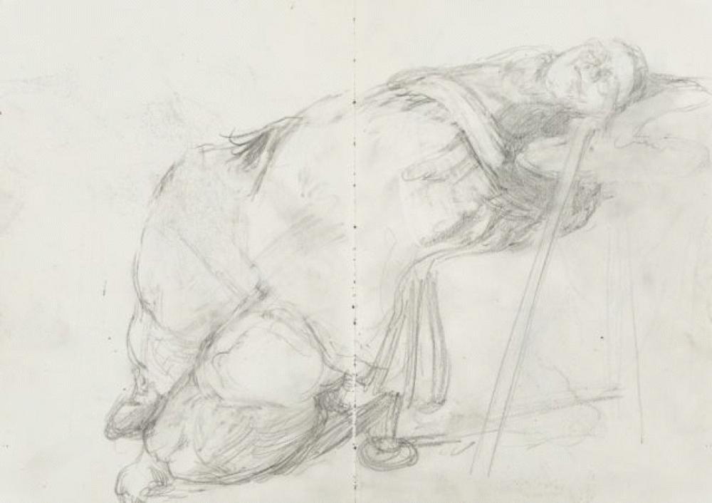 Sophie Asleep - Pencil on paper
