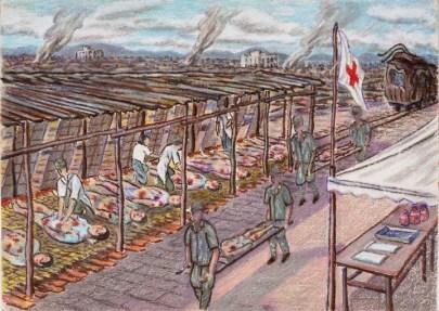 Fumiko Ya: Hospital. 1973-74. (Hiroshima Peace Memorial Museum)