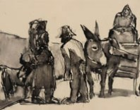 Burgundian Peasants, by Josef Herman