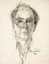 Roger Hilton. Self-Portrait , 1966, pencil on paper, 24 x 18cm