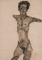 'Nude Self-Portrait' (1910). Leopold Museum/ Manfred Thumberger; Fine Art Images/Heritage Images/Getty Images