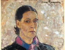 Anne Redpath. Self-Portrait , 1943, oil on board, 53 x 43 cm 20 7/8 x 16 7/8 in