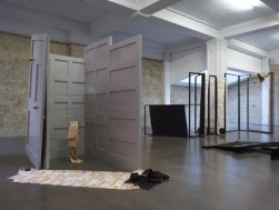 """Claire Barclay. Installation view, """"Shadow spans"""", Whitechapel Gallery, 2011"""