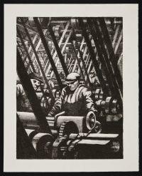 NEVINSON, Christopher Richard Wynne. Making the Engine (1917)