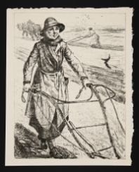 HARTRICK, Archibald Standish. On the Land: Ploughing (1917)