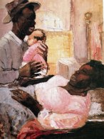 Couple and Infant (c. 1956), by Eva Frankfurther