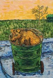 Liu Gang. I SAW YOUR EYES. 2013. Oil painting. 190 x 130 cm