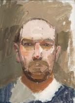 Euan Uglow. 'Self-Portrait', oil on board, 1964