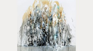 Wall of Water I, 2010© Maggi Hambling, photograph by Douglas Atfield