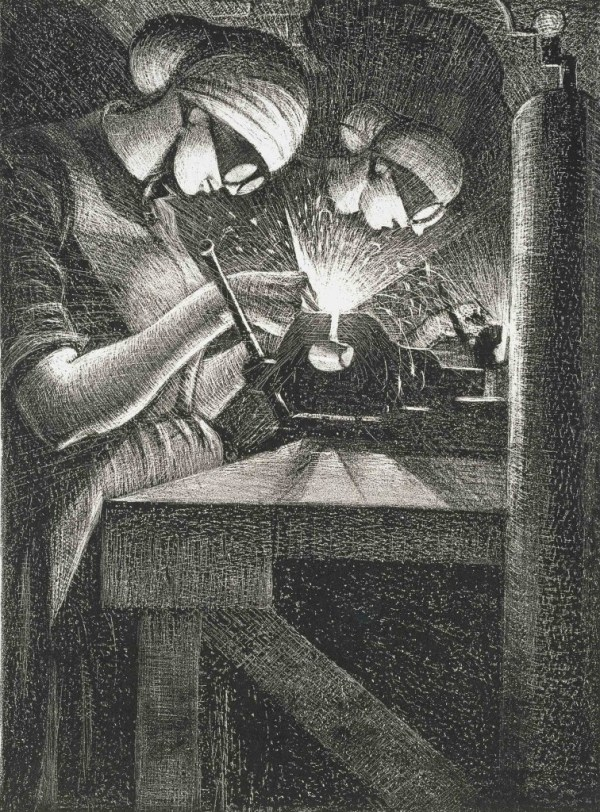 'Britain's Efforts and Ideals: Acetylene Welding', 1917 © Tate, London 2014