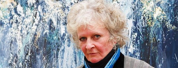 Maggi Hambling at Walls of Water | Photograph courtesy of the National Gallery