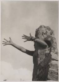Claude Cahun: I Extend My Arms. 1931 or 1932. Black and white photograph on paper. 210 x 156 mm. Purchased 2007. The estate of Claude Cahun