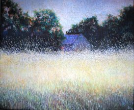 THE RED DOOR, TREGADON. 2014. Oil on canvas. 41 x 51 ccm.
