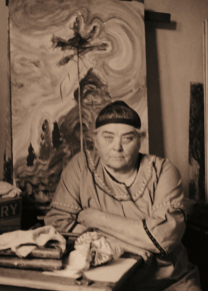 Emily Carr in her studio, 1939. Photograph: Harold Mortimer-Lamb/Vancouver Art Gallery