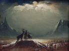 'Sami with Reindeer Under the Midnight Sun', about 1850. Photograph: Northern Norway Art Museum/National Gallery