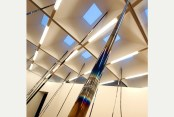 Iridescent aluminium, titanium, copper and steel poles by Raphael Hefti
