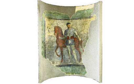 Young Knight, Fiumicino (Isola Sacra): Necropolis of Porto, tomb 19, painted plaster, 2nd century AD