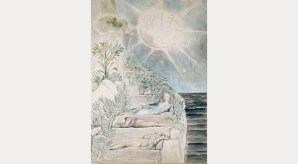 William Blake: Dante and Statius sleep while Virgil watches from Purgatorio VXVii, 1824–27. © Ashmolean Museum, University of Oxford