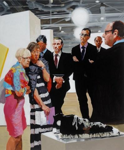 Art Fair: Booth #1 Oldenburg's Sneakers, 2013 Oil on linen. 208.3 x 172.7 cm, 82 x 68 in