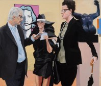 Art Fair: Booth #17 Instructions, 2014 Oil on Linen 177.8 x 208.3 cm, 70 x 82 in