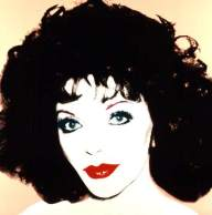 Joan Collins, by Andy Warhol. National Portrait Gallery, London. Date painted: 1985. Silkscreen ink on synthetic polymer paint on canvas, 101.6 x 101.6 cm. Collection: National Portrait Gallery, London