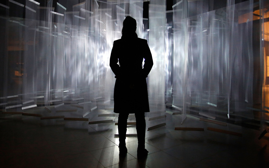'Lumieres Vertical Visualisee' (Visualised Vertical Light). Picture: Tim P. Whitby/Getty Images