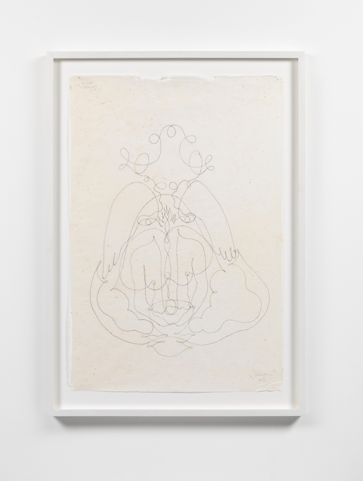 Untitled. 2014. Ink on Himalayan handmade paper. 75 x 50 cm (unframed), 61.5 x 87 x 4.2 cm (framed)