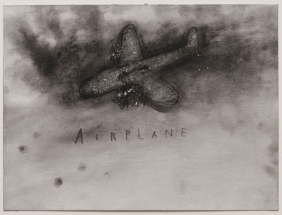 Airplane, 2012. Watercolour, 9 1/2 x 12 1/2 inches