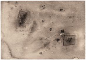 Seven, 2008-9. Watercolour, 15 1/2 x 18 3/4 inches