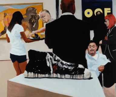 Art Fair: Booth #15 OOF, 2014 Oil on Linen 172.7 x 208.3 cm, 68 x 82 in