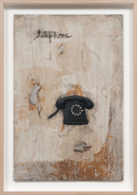 Telephone, N.D. Oil and mixed media on canvas, 40 3/8 x 28 3/8 inches