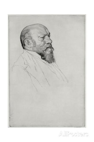 Portrait of Hans Richter (1843-1916), Hungarian Conductor