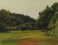 Woolfardisworthy 2, Hannah Brown, oil on plywood and oak, 2013