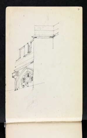 North-west bay of clerestory and tower buttress, St James, Chipping Campden, Gloucestershire 1894