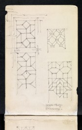 Three studies of leaded glass, Broadway, Worcestershire 1894