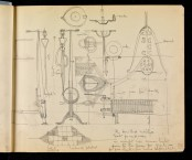 Design for the grate and fire-irons for the Card Room, Hous'hill, Nitshill, Glasgow, for Miss Cranston 1909