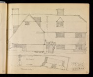 Pair of cottages, Withyham, Sussex 1909