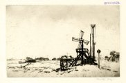 'Old Salt Mill (Southwold),' c. 1914. Drypoint, 136 x 214 mm