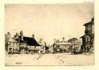 'The Green, Southwold,' 1913. Drypoint, 215 x 265 mm