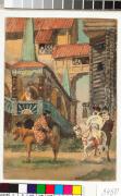 "Иллюстрация к сказке ""Сивка – Бурка"" Царский двор / Illustration to Father Frost - Tsar's yard, c 1887. Watercolour on paper, 18 x 12.3 cm"