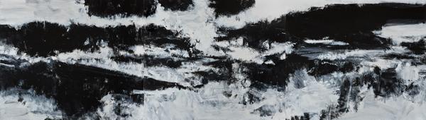 No. 9, 2011-2013  Acrylic on canvas, 1828.8 x 6400.8 mm