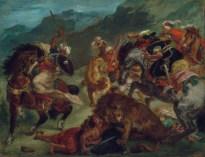 Eugène Delacroix: Lion Hunt, 1858