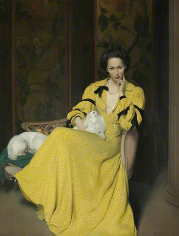 PAULINE IN THE YELLOW DRESS. Date painted: 1939. Oil on canvas, 76 x 64 cm. Collection:  Royal Academy of Arts