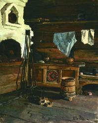 Северная изба / Northern House. 1889. Oil on canvas, 44 x 34.5 cm