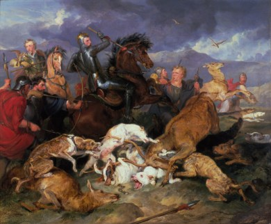 Edwin Landseer: The Hunting of Chevy Chace, 1825-6