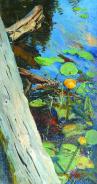 Кувшинки / Water Lilies. 1880s. Oil on canvas, 35 x 19 cm