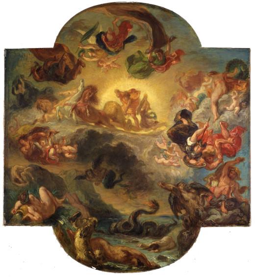 Eugène Delacroix: : The Triumph of Apollo (Apollo Vanquishing the Serpent Python), c. 1853