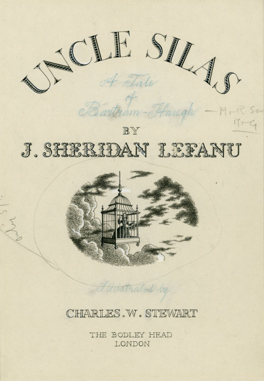 UNCLE SILAS, title page, 1947