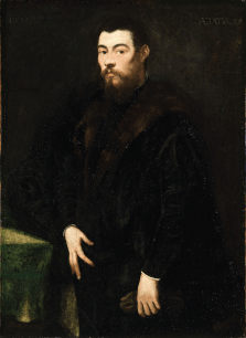 Jacopo Tintoretto (1518 - 1594), Portrait of a Venetian Gentleman, 1555, Oil on canvas, 146 x 111.5 x 11 cm, National Gallery of Ireland