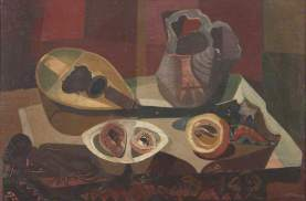 Still Life with Mandolin, by Robert MacBryde, 1943. Oil on canvas, 52 x 77.5 cm. British Council Collection